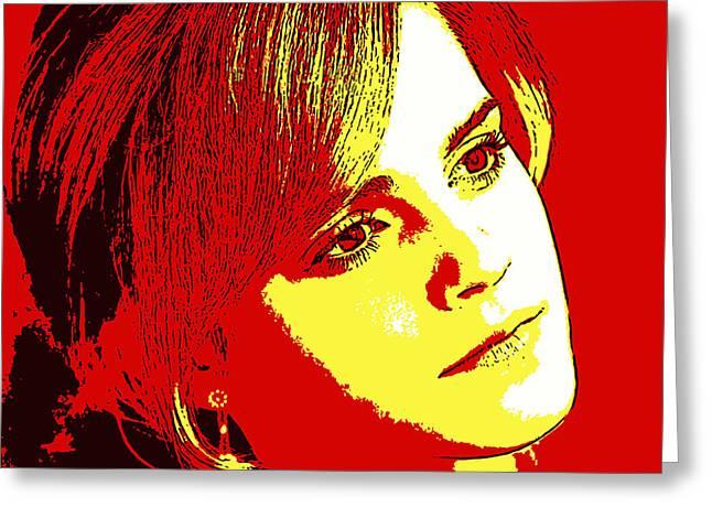 Hermione Granger Greeting Cards - Emma Watson 2 Greeting Card by John Novis