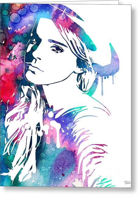 Watson Greeting Cards - Emma Watson Greeting Card by Luke and Slavi