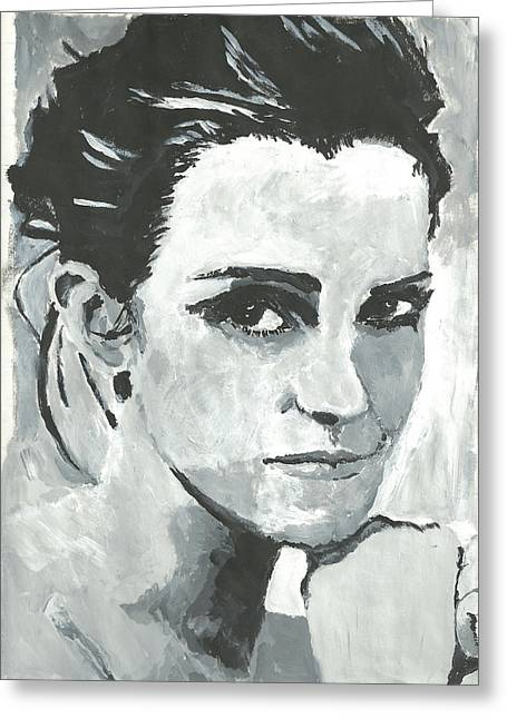 Emma Watson Greeting Card by Terence Leano