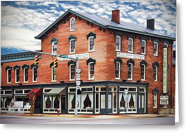 Historical Buildings Photographs Greeting Cards - Emmitt House corner Greeting Card by Jaki Miller