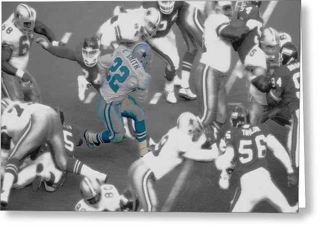 Emmitt Smith Greeting Card by Brian Reaves