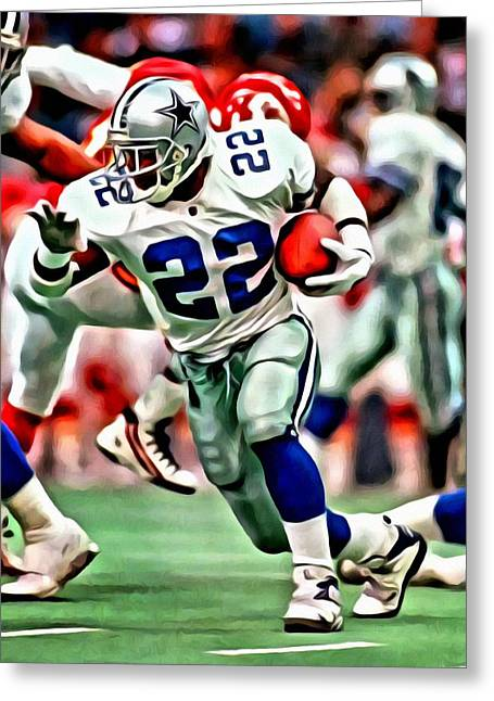 American League Greeting Cards - Emmitt Smith Greeting Card by Florian Rodarte