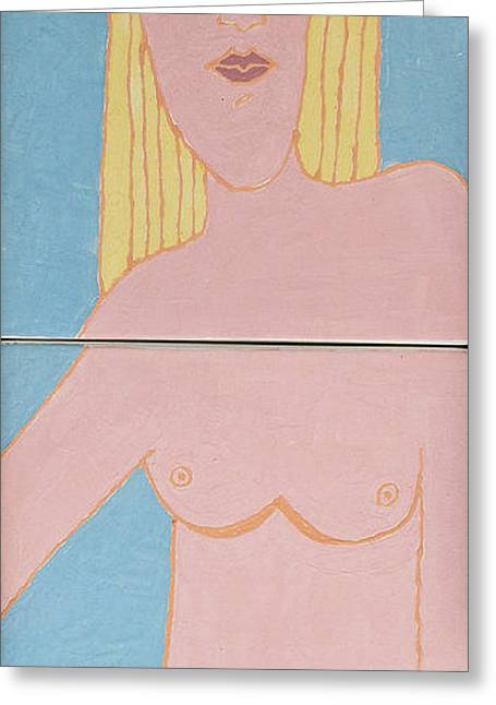 Figurative Sculptures Greeting Cards - Emotion Has Taken Her Heart  Greeting Card by Art Mantia