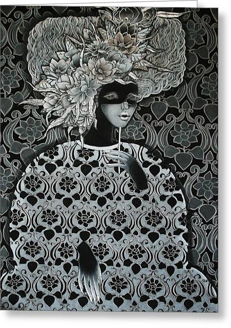 Objectivity Greeting Cards - Emotion of grey Greeting Card by Alesya Von Meer