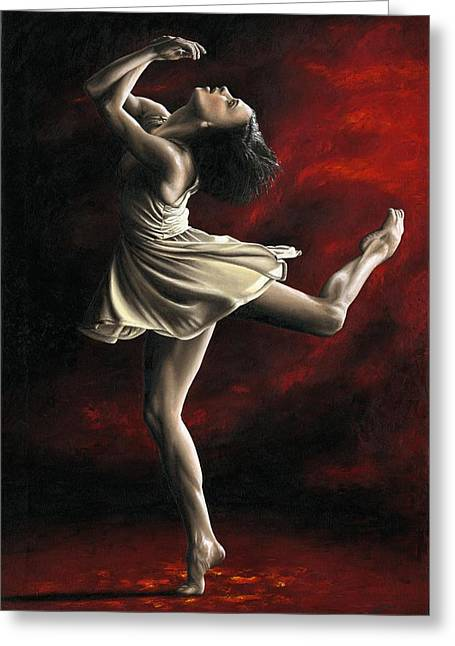 Sultry Greeting Cards - Emotional Awakening Greeting Card by Richard Young