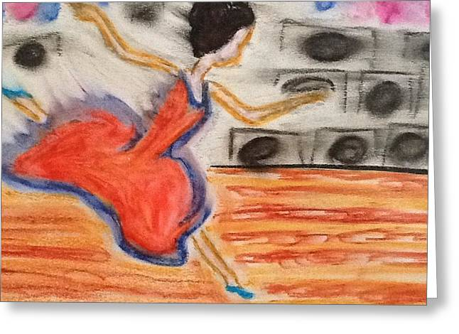 Live Music Pastels Greeting Cards - Emotional dance Greeting Card by Amanda Schroeder