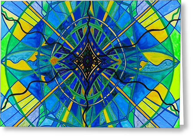Geometric Art Greeting Cards - Emotional Expression Greeting Card by Teal Eye  Print Store