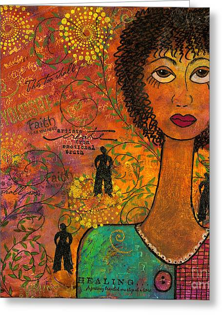 Survivor Art Greeting Cards - Emotional Truth Greeting Card by Angela L Walker