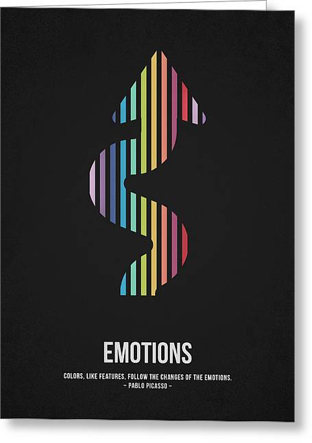 Pablo Picasso Greeting Cards - Emotions Greeting Card by Aged Pixel