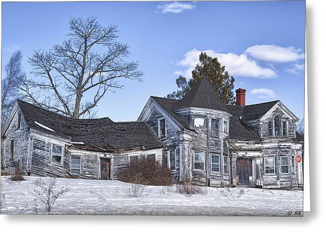 Old Maine Houses Greeting Cards - Emotions Spell No Trespassing Greeting Card by Richard Bean