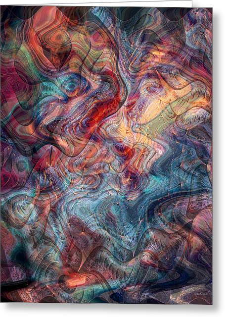 Empathic Psychic Greeting Card by Linda Sannuti