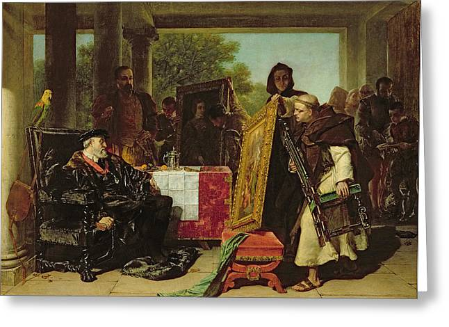 Emperor Charles V At The Convent Greeting Card by Alfred W. Elmore