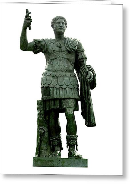 Castel Greeting Cards - Emperor Hadrian Greeting Card by Fabrizio Troiani