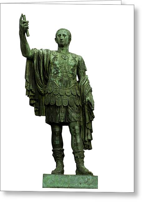 White Background Greeting Cards - Emperor Marcus Cocceius Nerva Greeting Card by Fabrizio Troiani