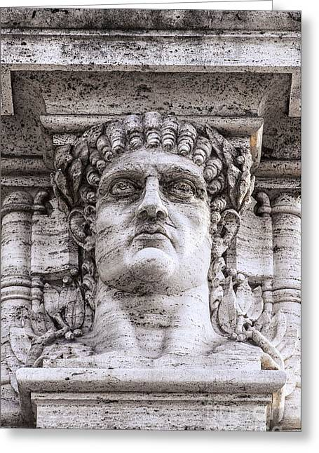 Nero Greeting Cards - Emperor Nero Head Statue Greeting Card by Antony McAulay