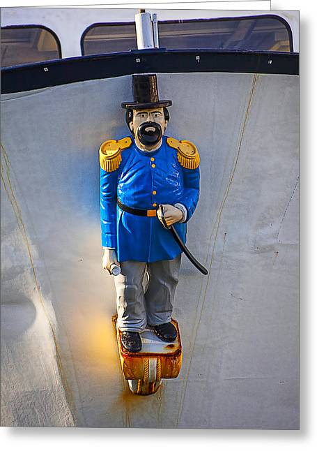 Personality Photographs Greeting Cards - Emperor Norton Figurehead Greeting Card by Garry Gay