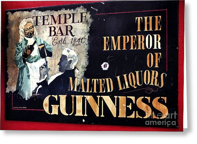 Photography Of Liquor Greeting Cards - Emperor of Malted Liquors Greeting Card by John Rizzuto