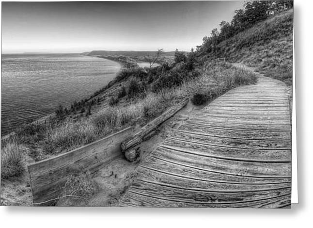 Scenic Drive Greeting Cards - Empire Bluff in Black and White Greeting Card by Twenty Two North Photography