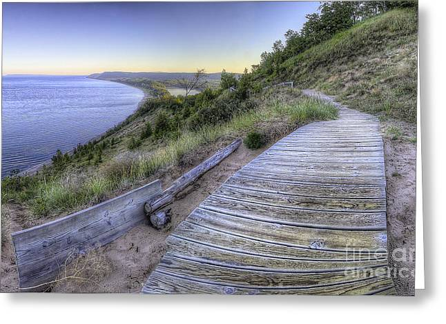 Empire Bluff in Sleeping Bear Dunes Greeting Card by Twenty Two North Photography