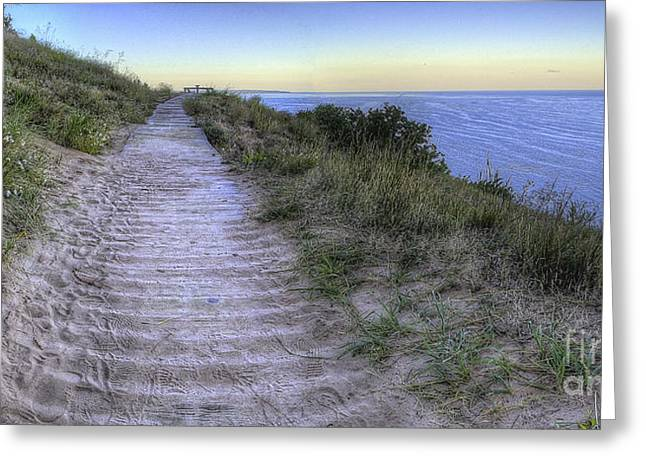 Scenic Drive Greeting Cards - Empire Bluff Greeting Card by Twenty Two North Photography