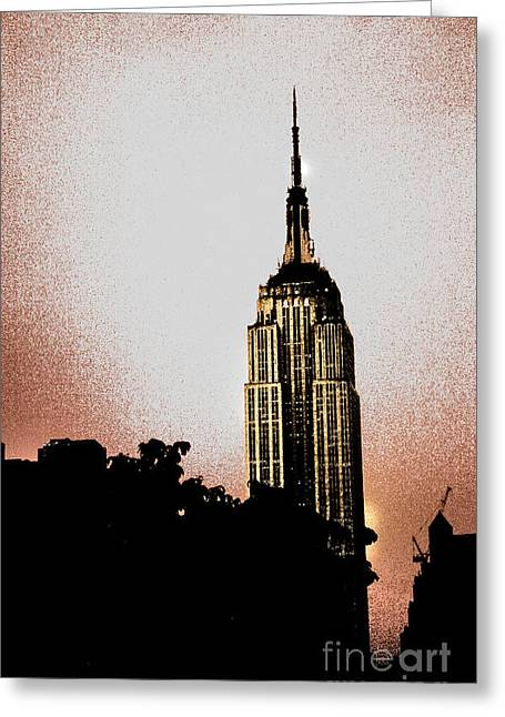 Nyc Posters Photographs Greeting Cards - Empire Poster Greeting Card by Ken Marsh