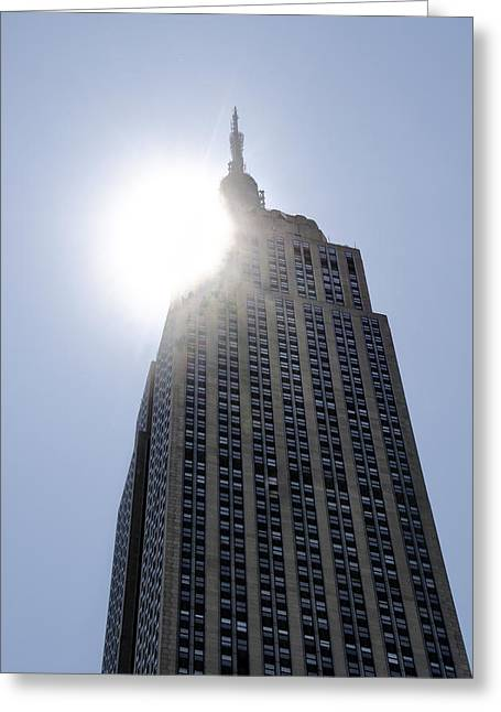 High Noon Greeting Cards - Empire State at Hign Noon Greeting Card by Bill Cannon