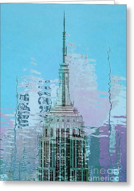 Featured Art Greeting Cards - Empire State Building 1 Greeting Card by Az Jackson