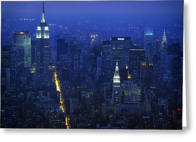 Empire State Building 1980s - New York City Greeting Card by Mountain Dreams
