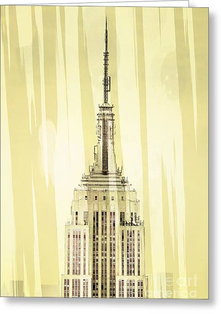 Art Deco New York Greeting Cards - Empire State Building 2 Greeting Card by Az Jackson