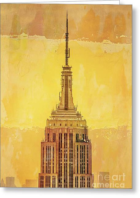 Featured Art Greeting Cards - Empire State Building 4 Greeting Card by Az Jackson