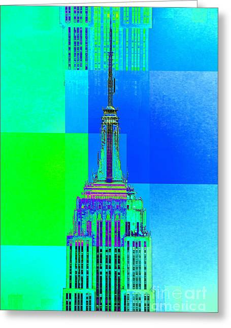 Featured Art Greeting Cards - Empire State Building 5 Greeting Card by Az Jackson