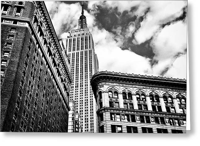 New York City Skyline Photographs Greeting Cards - Empire State Building and New York City Skyline Greeting Card by Vivienne Gucwa