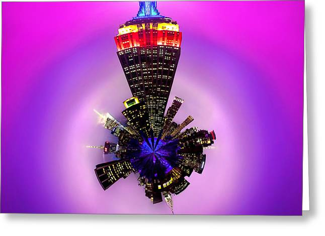 Symmetry Greeting Cards - Empire State Building Circagraph Greeting Card by Az Jackson