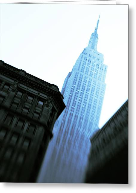 Midtown Greeting Cards - Empire State Building Greeting Card by Dave Bowman