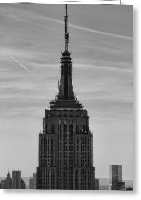 New Mind Greeting Cards - Empire State Building Detail Greeting Card by Dan Sproul