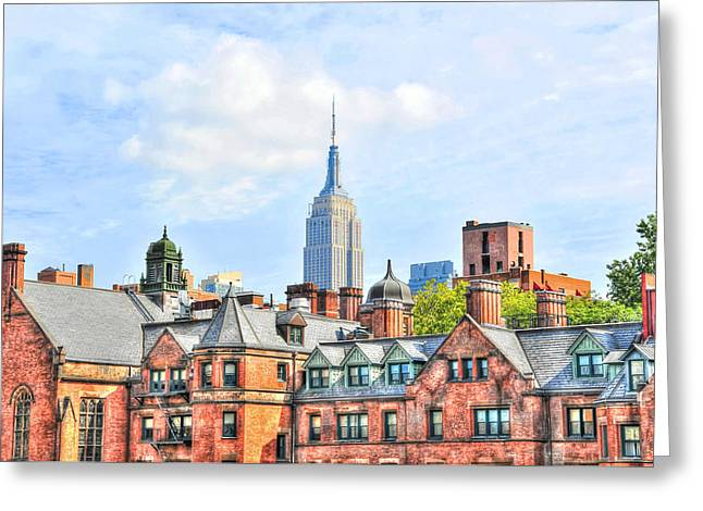 Empire State Building From The High Line Greeting Card by Randy Aveille