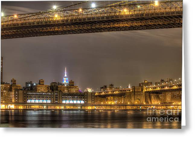 Fdr Drive Greeting Cards - Empire State Building Greeting Card by Joe Colombo