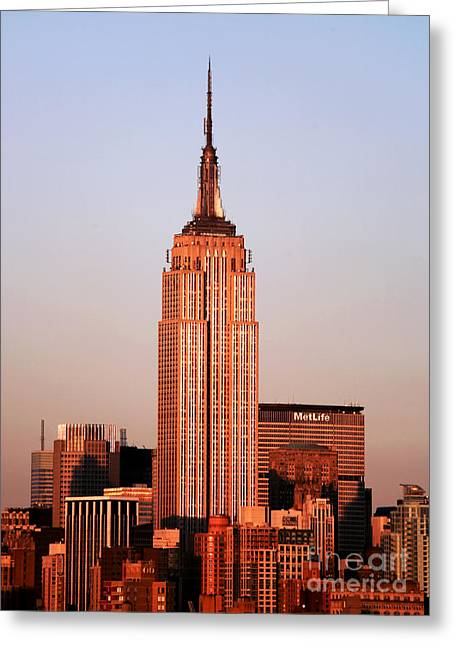 Life Line Greeting Cards - Empire State Building Greeting Card by John Rizzuto