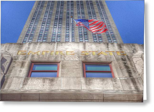 Famous Cities Greeting Cards - Empire State Building Greeting Card by Marianna Mills