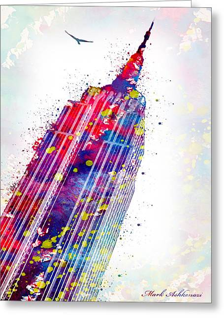 Empire State Building Greeting Card by Mark Ashkenazi