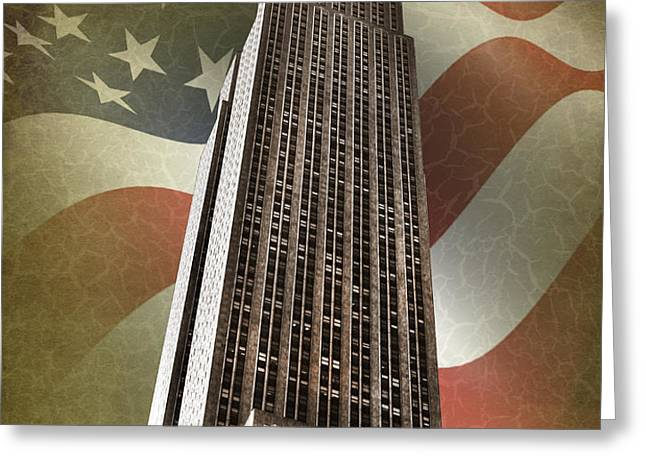 Empire State Building Greeting Card by Mark Rogan