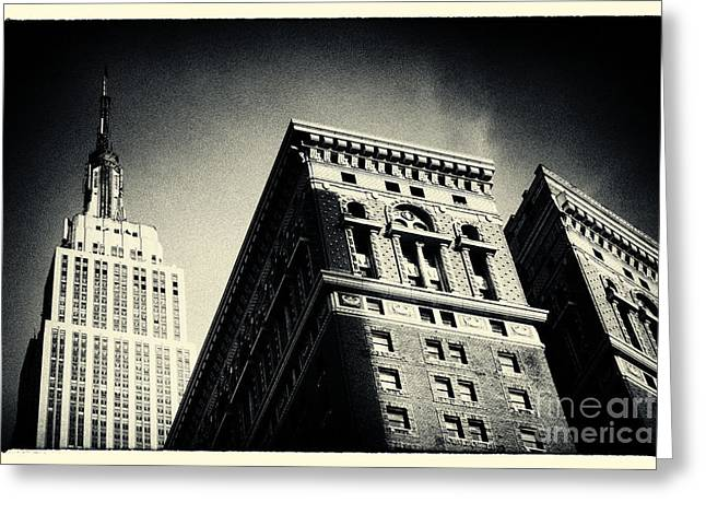 Filmnoir Greeting Cards - Empire State Building New York City Greeting Card by Sabine Jacobs