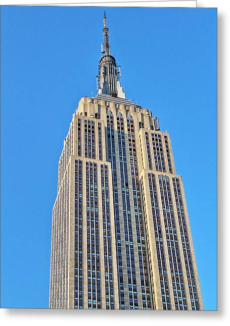 New Mind Greeting Cards - Empire State Building On A Clear Day Greeting Card by Richard Cheski