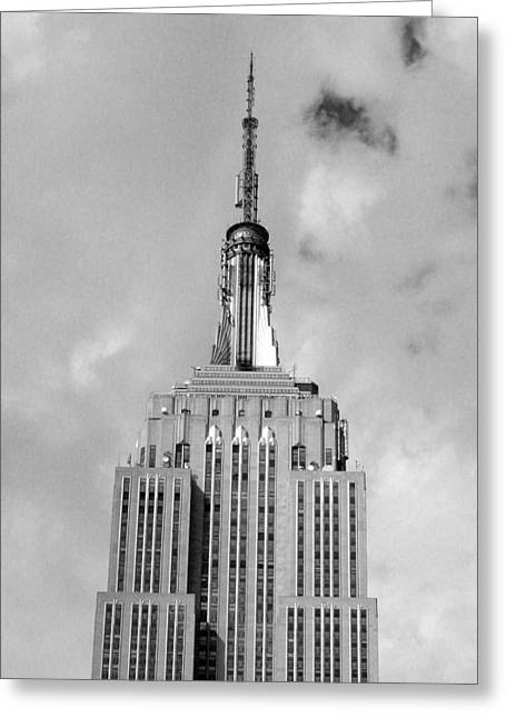 Spire Framed Prints Greeting Cards - Empire State Building Tower Greeting Card by Liza Dey