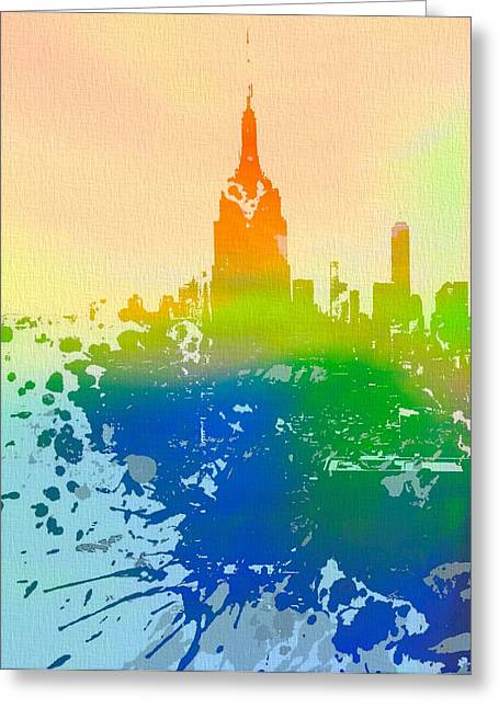 New Mind Digital Art Greeting Cards - Empire State  Greeting Card by Dan Sproul