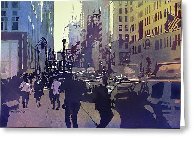 Midtown Paintings Greeting Cards - Empire State Greeting Card by Kris Parins