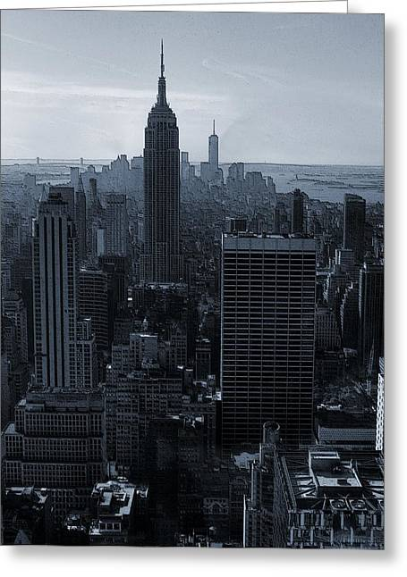 Center City Mixed Media Greeting Cards - Empire State Of Mind Greeting Card by Dan Sproul