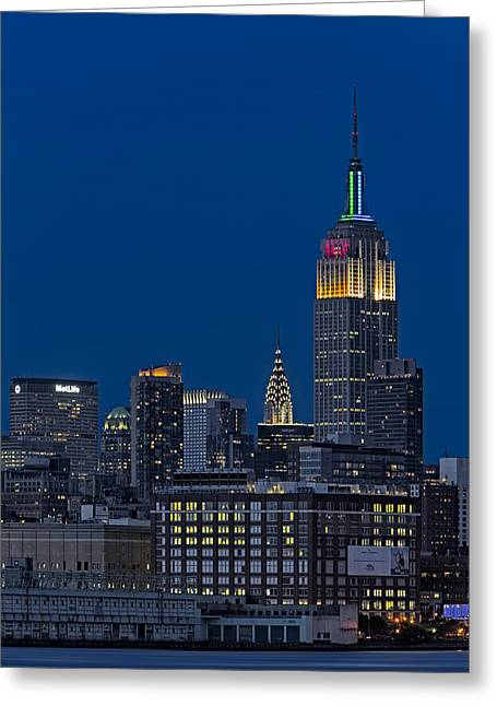 Cityscapes Greeting Cards - Empire State Greeting Card by Susan Candelario