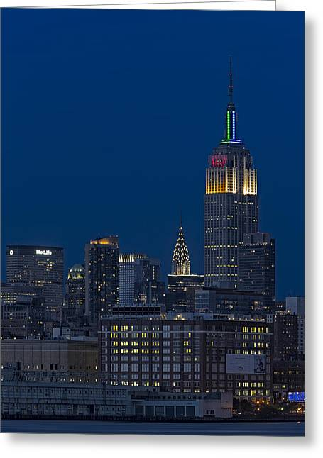 Empire State Twilight Greeting Card by Susan Candelario