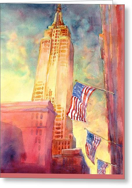 Empire State Greeting Card by Virgil Carter